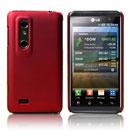 Custodia LG P920 Optimus 3D Plastica Cover Rigida Guscio - Rosso