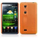 Custodia LG P920 Optimus 3D Rete Cover Rigida Guscio - Arancione