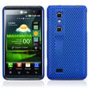 Custodia LG P920 Optimus 3D Rete Cover Rigida Guscio - Blu