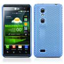 Custodia LG P920 Optimus 3D Rete Cover Rigida Guscio - Luce Blu