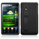 Custodia LG P920 Optimus 3D Rete Cover Rigida Guscio - Nero