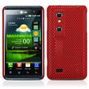 Custodia LG P920 Optimus 3D Rete Cover Rigida Guscio - Rosso