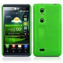 Custodia LG P920 Optimus 3D Rete Cover Rigida Guscio - Verde