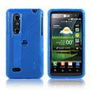 Custodia LG P920 Optimus 3D S-Line Silicone Bumper - Blu