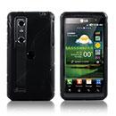 Custodia LG P920 Optimus 3D S-Line Silicone Bumper - Nero