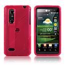 Custodia LG P920 Optimus 3D S-Line Silicone Bumper - Rosso