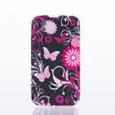 Custodia LG P970 Optimus Black Farfalla Silicone Gel Case - Fucsia