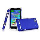 Custodia Motorola Motoluxe XT615 Plastica Cover Rigida Guscio - Blu