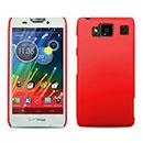 Custodia Motorola Razr HD XT926 Plastica Cover Rigida Guscio - Rosso