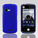 Custodia Motorola XT502 Plastica Cover Rigida Guscio - Blu