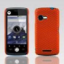 Custodia Motorola XT502 Rete Cover Rigida Guscio - Arancione