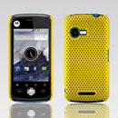 Custodia Motorola XT502 Rete Cover Rigida Guscio - Giallo
