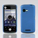 Custodia Motorola XT502 Rete Cover Rigida Guscio - Luce Blu