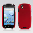 Custodia Motorola XT800 Plastica Cover Rigida Guscio - Rosso