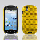 Custodia Motorola XT800 Rete Cover Rigida Guscio - Giallo