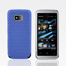 Custodia Nokia 5530 Rete Cover Rigida Guscio - Luce Blu
