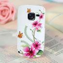 Custodia Nokia C3-00 Farfalla Silicone Gel Case - Bianco