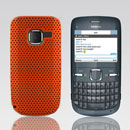 Custodia Nokia C3-00 Rete Cover Rigida Guscio - Arancione