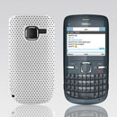 Custodia Nokia C3-00 Rete Cover Rigida Guscio - Bianco