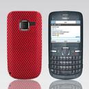 Custodia Nokia C3-00 Rete Cover Rigida Guscio - Rosso