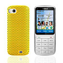 Custodia Nokia C3-01 Rete Cover Rigida Guscio - Giallo