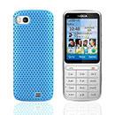 Custodia Nokia C3-01 Rete Cover Rigida Guscio - Luce Blu