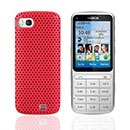 Custodia Nokia C3-01 Rete Cover Rigida Guscio - Rosso