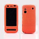 Custodia Nokia C6-00 Rete Cover Rigida Guscio - Arancione