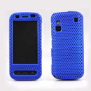 Custodia Nokia C6-00 Rete Cover Rigida Guscio - Blu