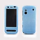 Custodia Nokia C6-00 Rete Cover Rigida Guscio - Luce Blu