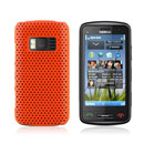 Custodia Nokia C6-01 Rete Cover Rigida Guscio - Arancione