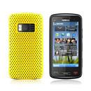 Custodia Nokia C6-01 Rete Cover Rigida Guscio - Giallo