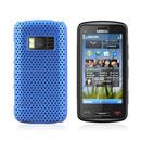 Custodia Nokia C6-01 Rete Cover Rigida Guscio - Luce Blu