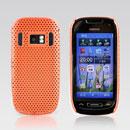 Custodia Nokia C7 Rete Cover Rigida Guscio - Arancione