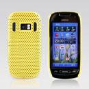 Custodia Nokia C7 Rete Cover Rigida Guscio - Giallo