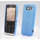 Custodia Nokia E52 Rete Cover Rigida Guscio - Luce Blu