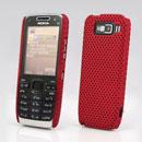 Custodia Nokia E52 Rete Cover Rigida Guscio - Rosso