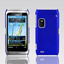 Custodia Nokia E7 Plastica Cover Rigida Guscio - Blu
