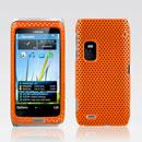 Custodia Nokia E7 Rete Cover Rigida Guscio - Arancione