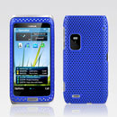 Custodia Nokia E7 Rete Cover Rigida Guscio - Blu