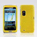 Custodia Nokia E7 Rete Cover Rigida Guscio - Giallo