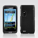 Custodia Nokia E7 Rete Cover Rigida Guscio - Nero