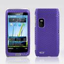 Custodia Nokia E7 Rete Cover Rigida Guscio - Porpora