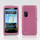 Custodia Nokia E7 Rete Cover Rigida Guscio - Rosa