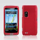 Custodia Nokia E7 Rete Cover Rigida Guscio - Rosso