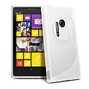 Custodia Nokia Lumia 1020 S-Line Silicone Bumper - Bianco