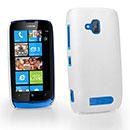 Custodia Nokia Lumia 610 Plastica Cover Rigida Guscio - Bianco