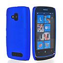 Custodia Nokia Lumia 610 Plastica Cover Rigida Guscio - Blu