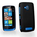 Custodia Nokia Lumia 610 Plastica Cover Rigida Guscio - Nero