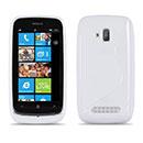 Custodia Nokia Lumia 610 S-Line Silicone Bumper - Bianco